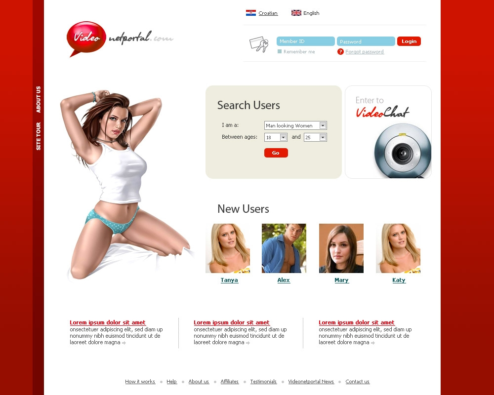Free dating site template wordpress